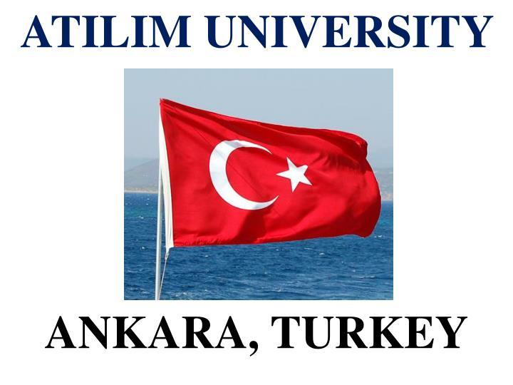 atilim university 5 ankara turkey n.