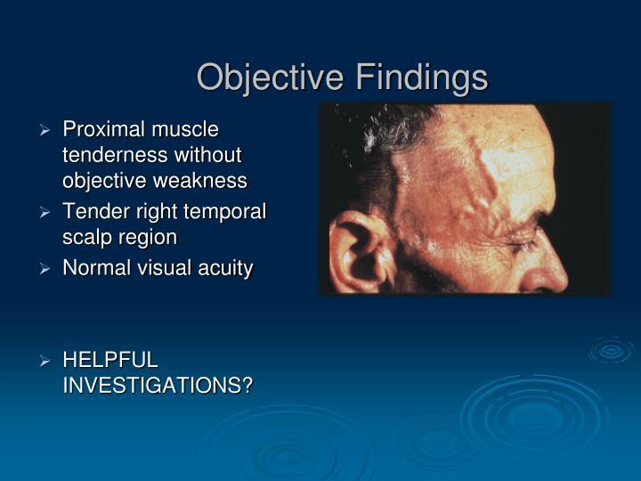 Objective Findings