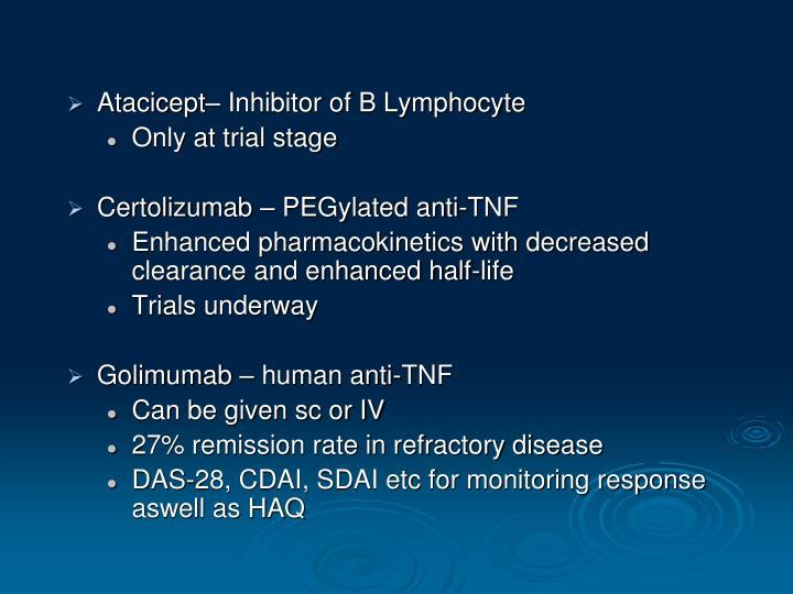 Atacicept– Inhibitor of B Lymphocyte