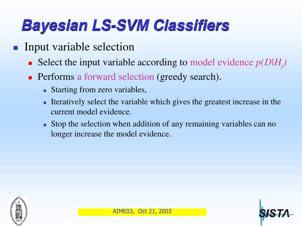 PPT - Classification of Ovarian Tumors Using Bayesian Least
