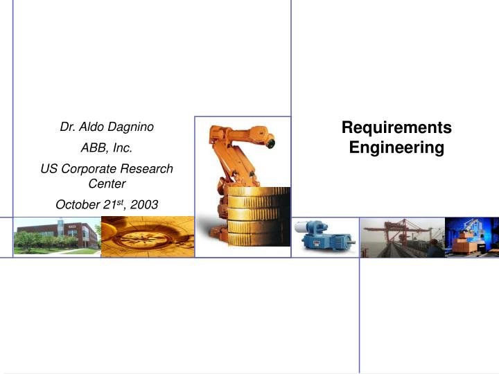 requirements engineering n.