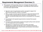 requirements management overview 1