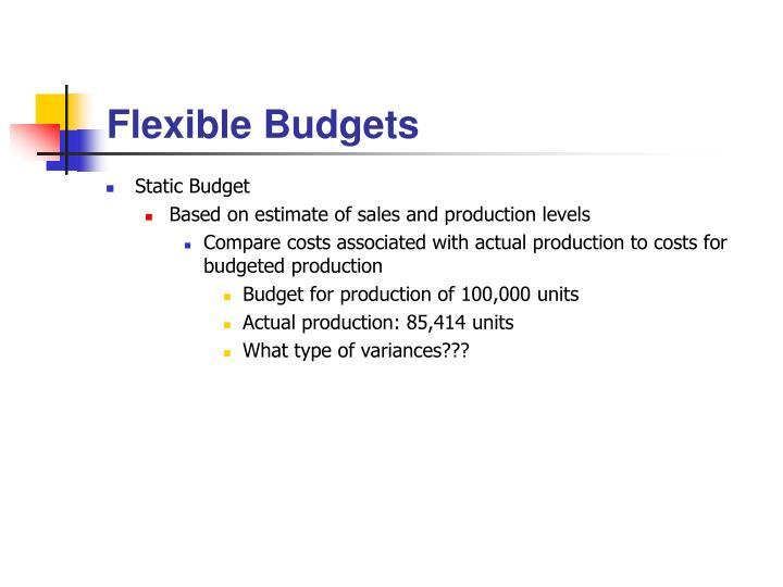flexible budgets n.