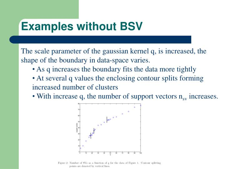 Examples without BSV
