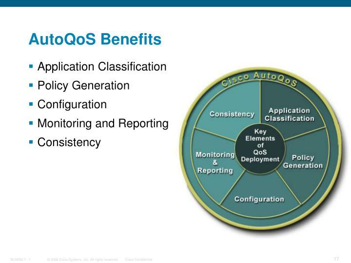 AutoQoS Benefits