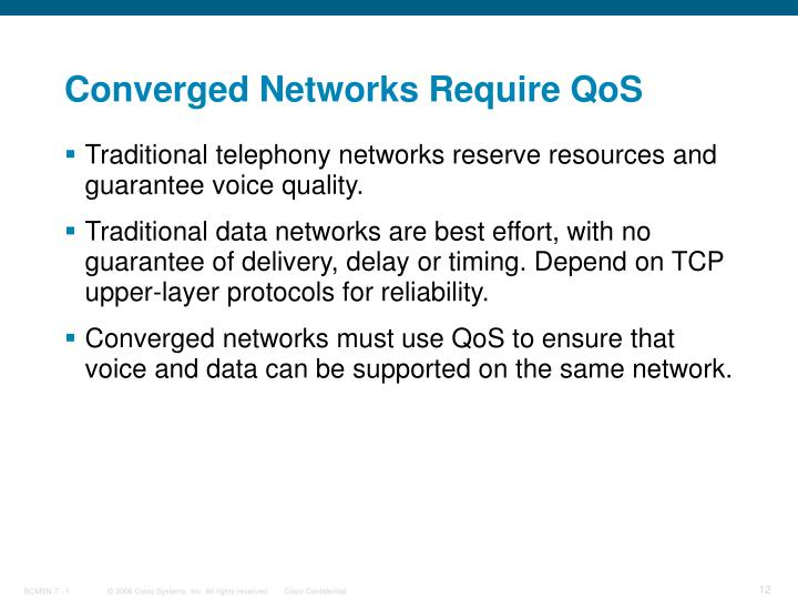 Converged Networks Require QoS
