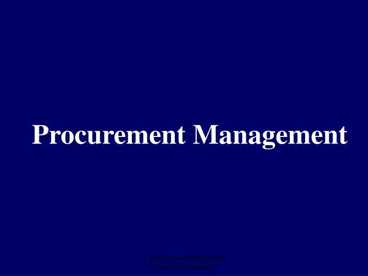 procurement management n.