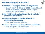 modern design constraints