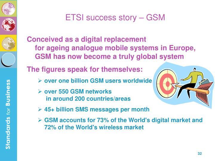 ETSI success story – GSM