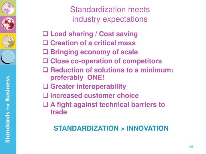 Standardization meets