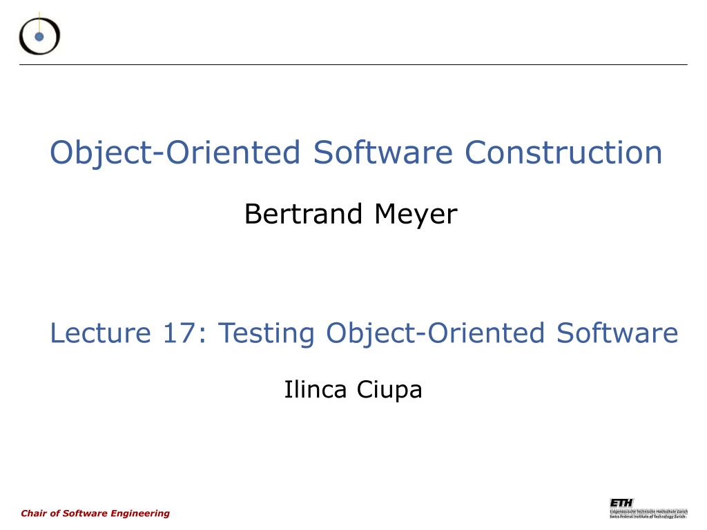 Ppt Object Oriented Software Construction Powerpoint Presentation Free Download Id 3376386
