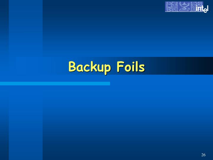 Backup Foils