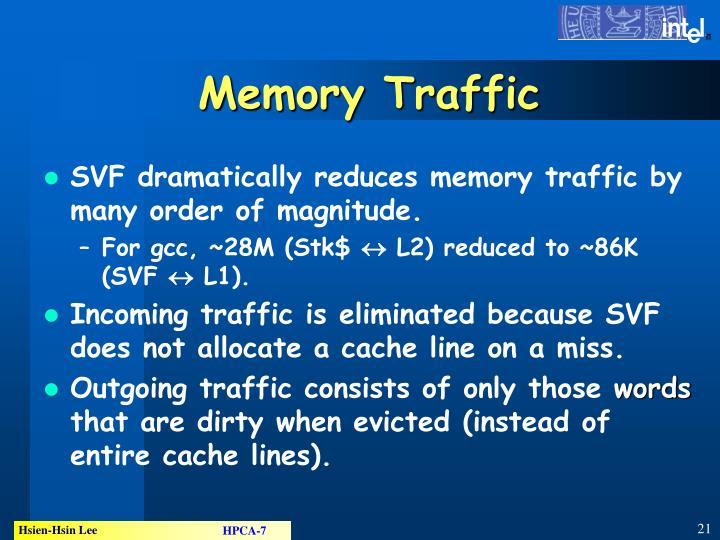 Memory Traffic