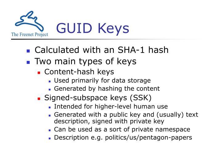 GUID Keys