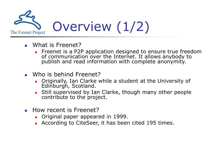 Overview 1 2