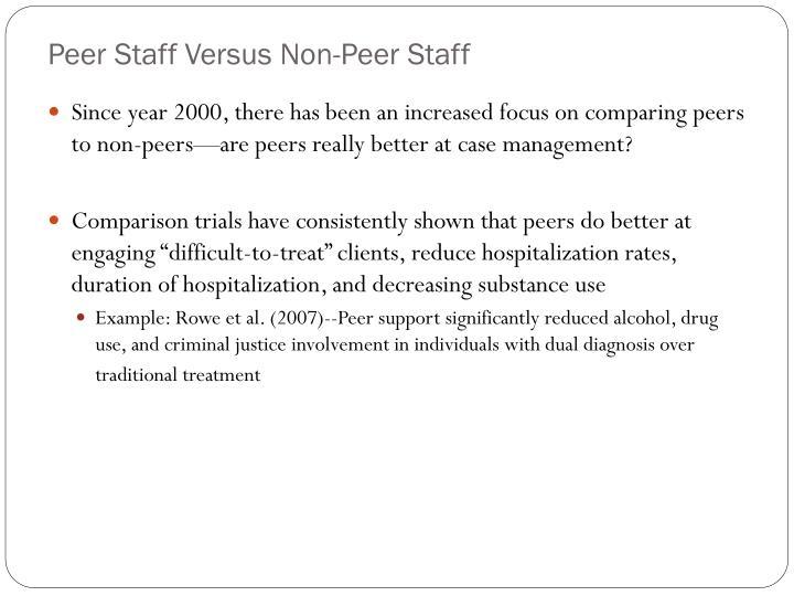 Peer Staff Versus Non-Peer Staff