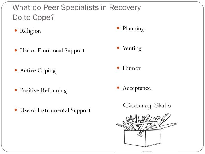 What do Peer Specialists in Recovery