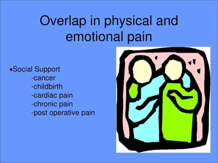 Overlap in physical and emotional pain