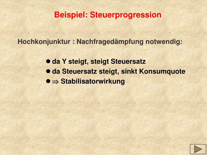 Beispiel: Steuerprogression