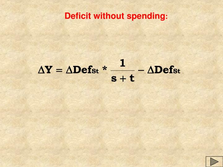 Deficit without spending