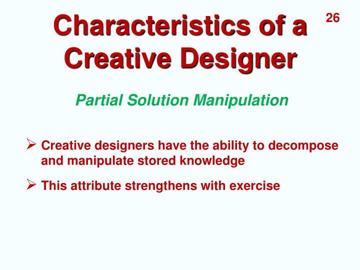 Characteristics of a Creative Designer