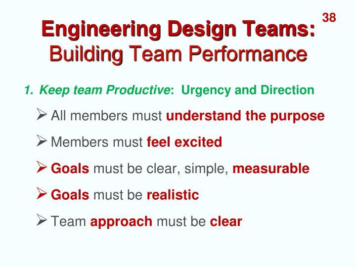 Engineering Design Teams:
