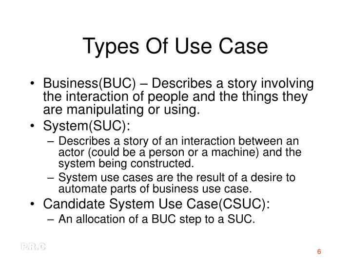 Types Of Use Case