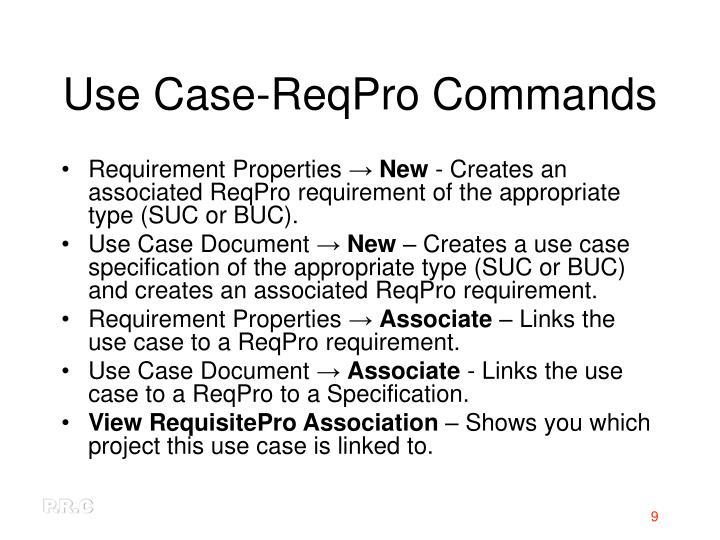Use Case-ReqPro Commands