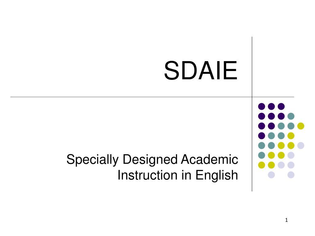 Ppt Sdaie Powerpoint Presentation Free Download Id 3376684