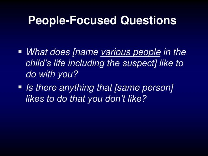 People-Focused Questions