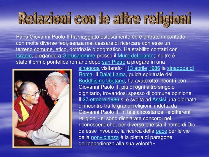 Relazioni con le altre religioni