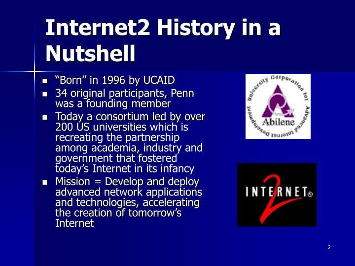 Internet2 history in a nutshell