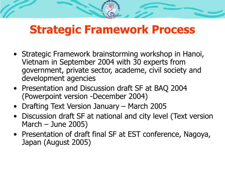 Strategic framework process