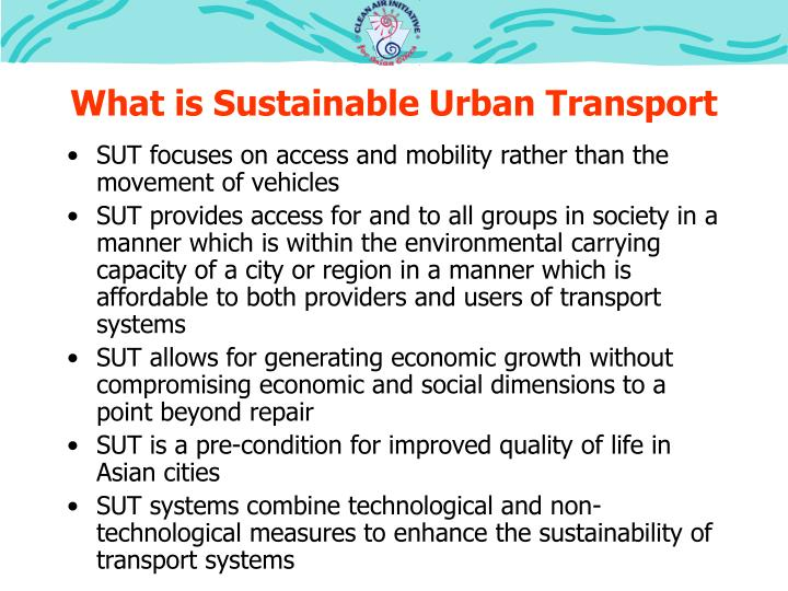 What is Sustainable Urban Transport