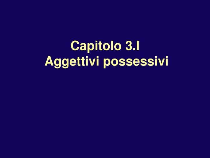 capitolo 3 i aggettivi possessivi n.