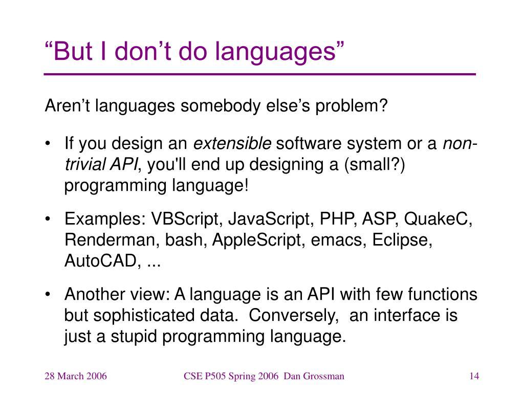 PPT - CSEP505: Programming Languages Lecture 1: Intro