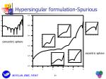 hypersingular formulation spurious1