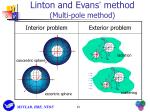 linton and evans method multi pole method