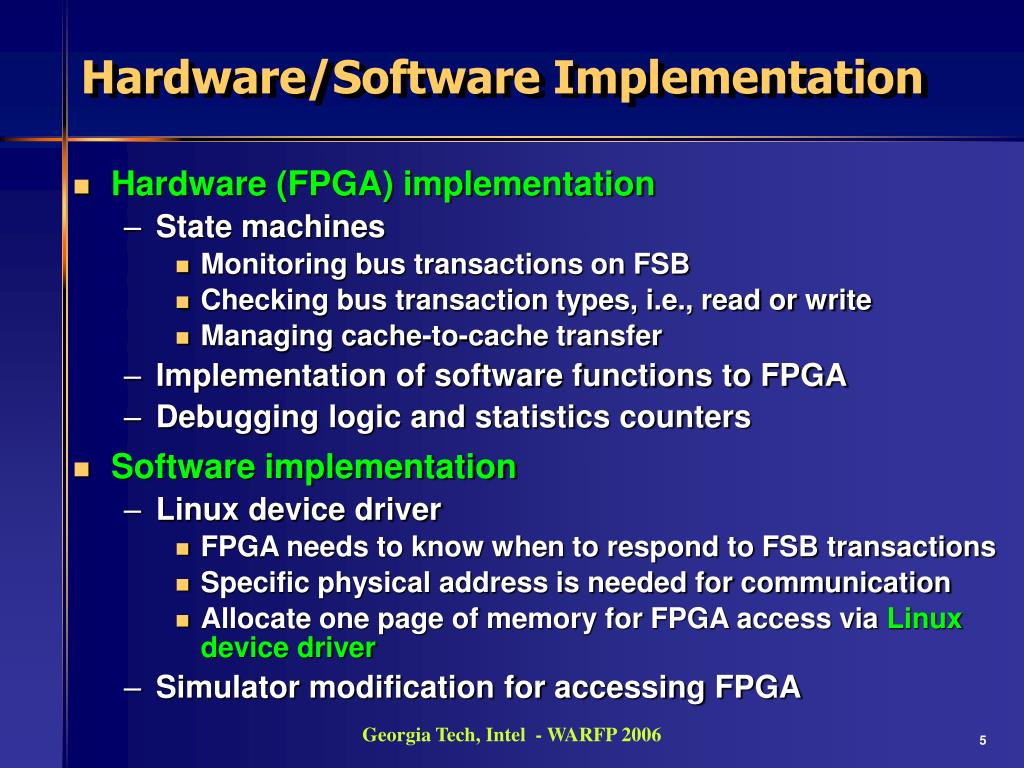 PPT - Initial Observations of Hardware/Software Co