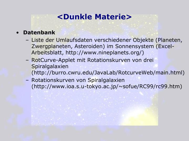 PPT - <Dunkle Materie> PowerPoint Presentation - ID:3377102