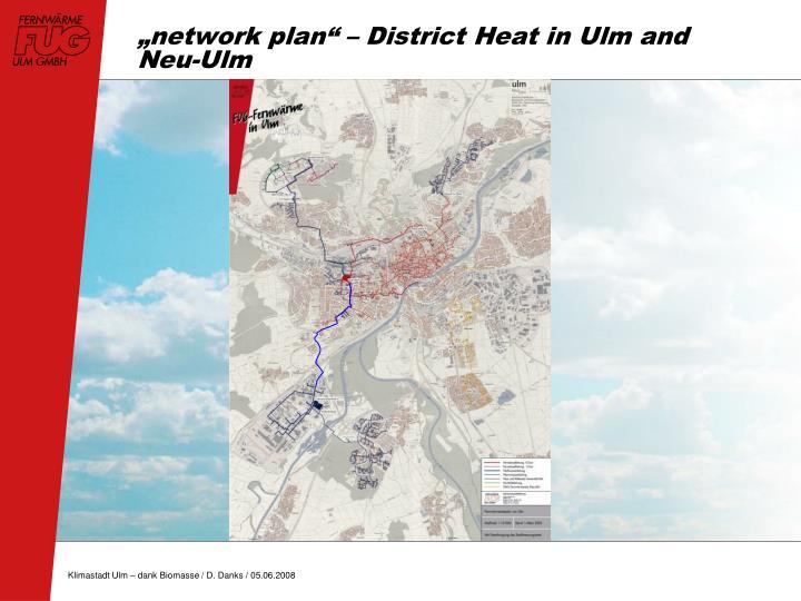 """network plan"" – District Heat in Ulm and Neu-Ulm"