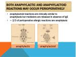 both anaphylactic and anaphylactoid reactions may occur perioperatively