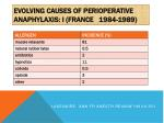evolving causes of perioperative anaphylaxis i france 1984 1989
