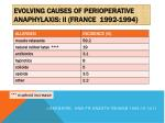 evolving causes of perioperative anaphylaxis ii france 1992 1994