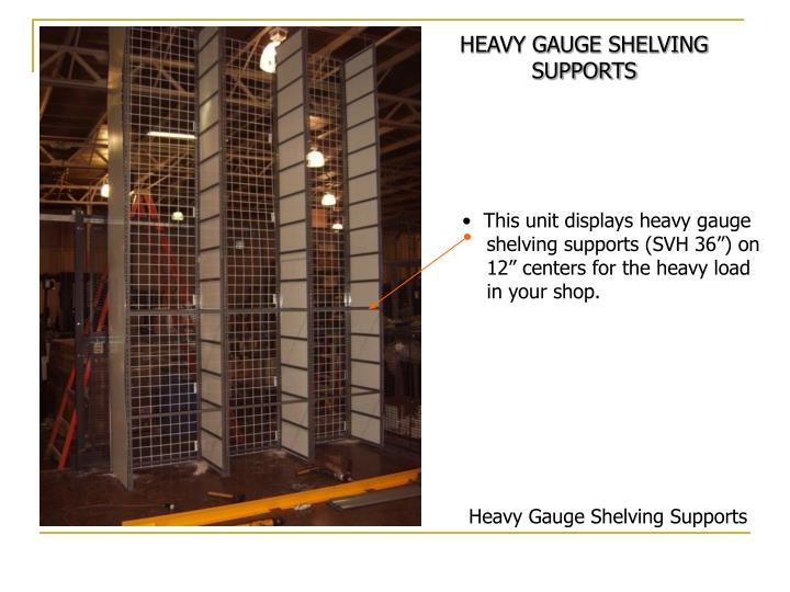 HEAVY GAUGE SHELVING SUPPORTS