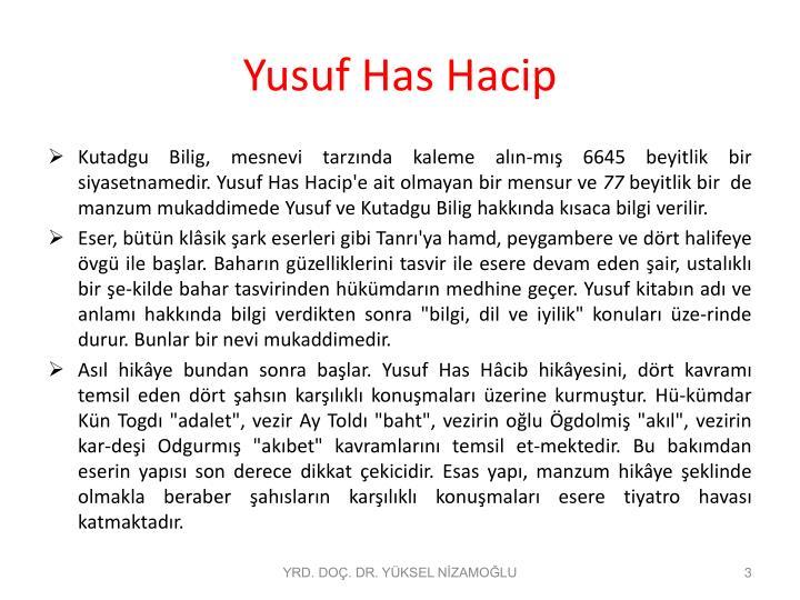 Yusuf has hacip1