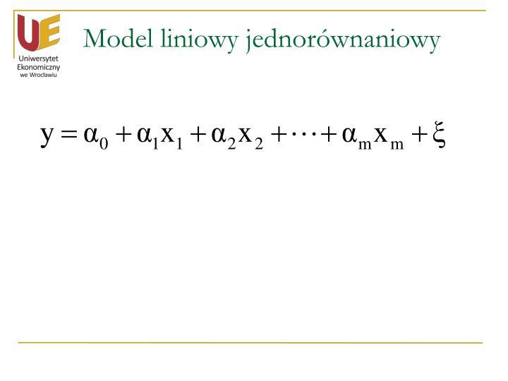 Model liniowy jednorównaniowy