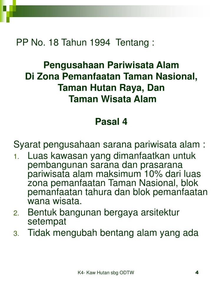 PP No. 18 Tahun 1994  Tentang :