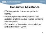 consumer assistance