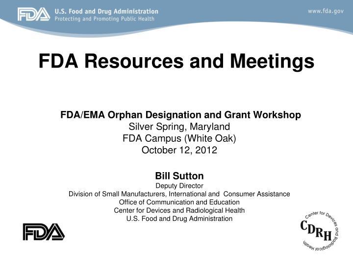 fda resources and meetings n.